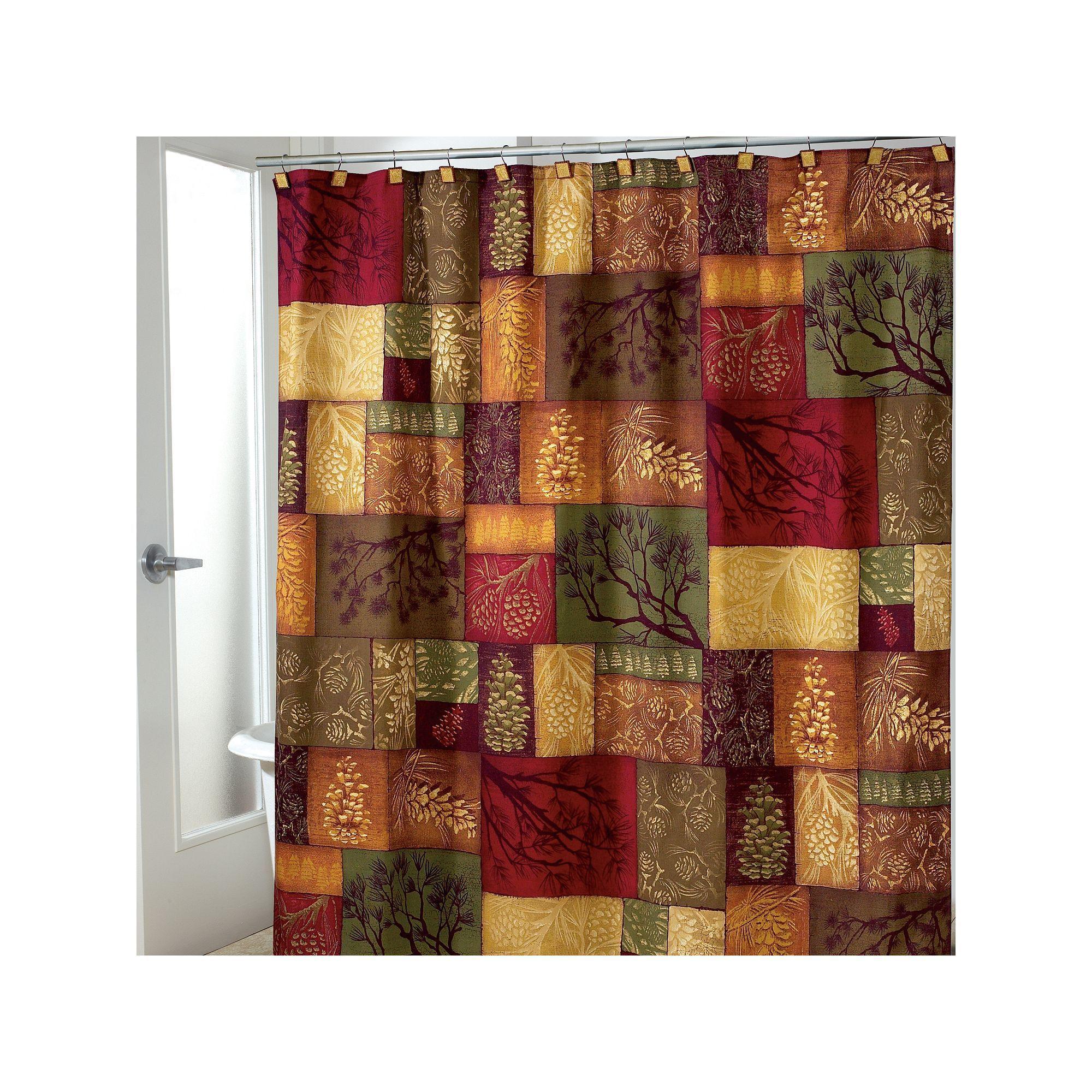 Kohls Christmas Shower Curtain.Avanti Christmas Adirondack Pine Fabric Shower Curtain In