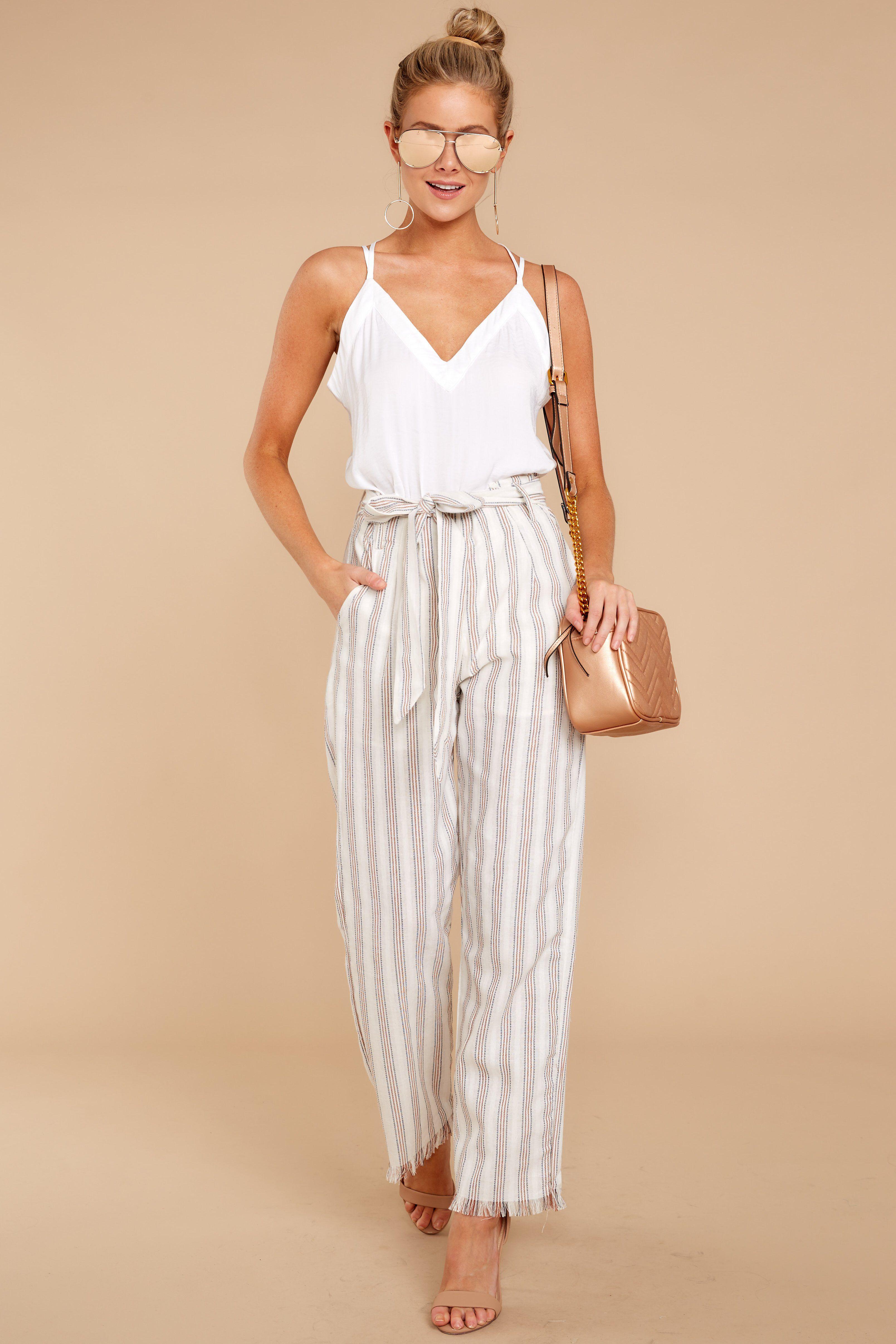 Chic Cream Stripe Pants Stripe Pants Pants 48 00