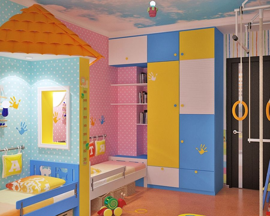 20 increbles ideas creativas para adornar un dormitorio compartido por nia y nio girls shared bedroomsshared kids