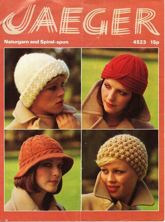 womens hats knitting pattern pdf chunky or DK ladies caps ...