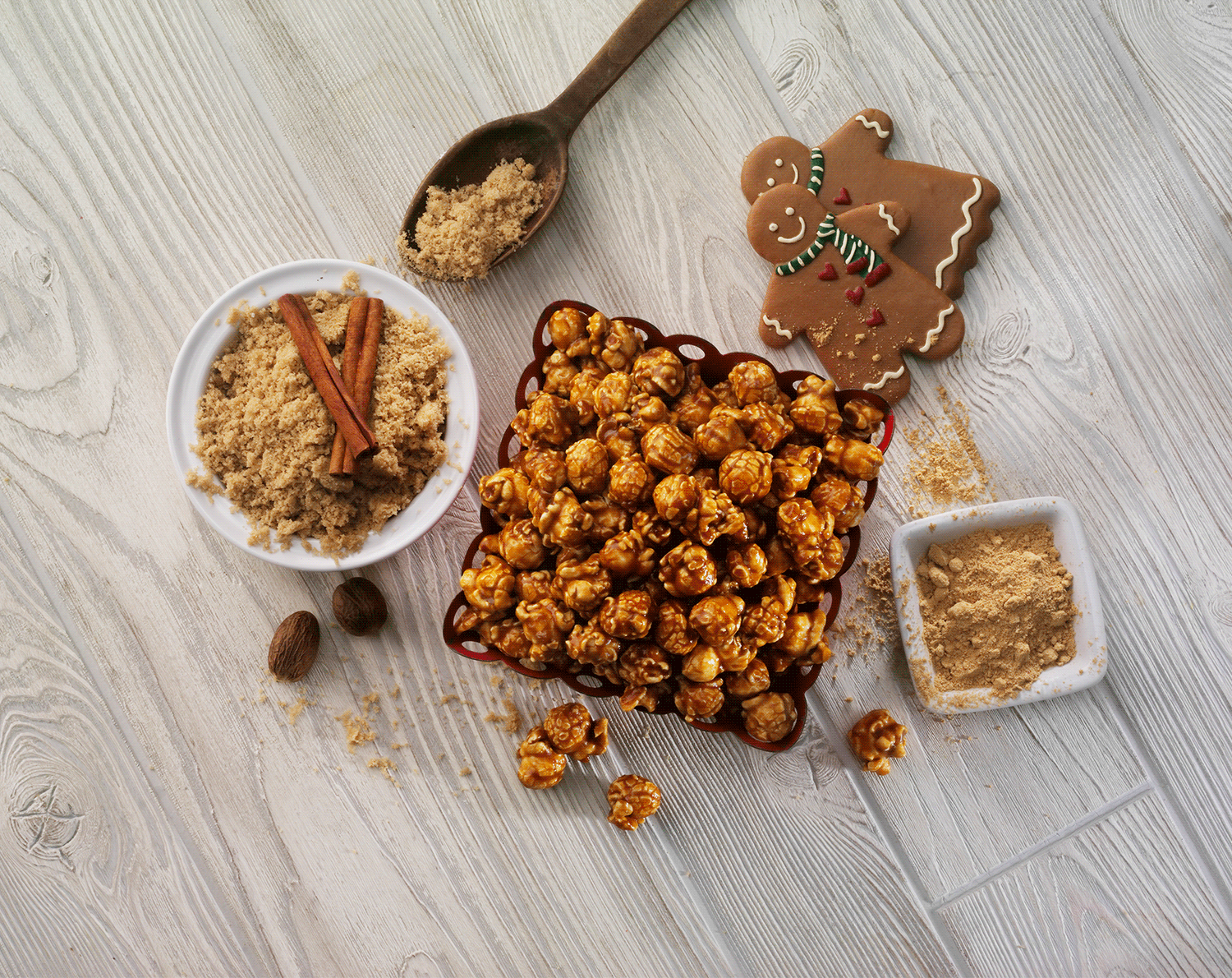 Gingerbread CaramelCrisp® - An original holiday recipe–back for a limited time! Crushed ginger, warm cinnamon and a hint of nutmeg gently mixed with buttery CaramelCrisp® make this recipe a must-have for the holidays.