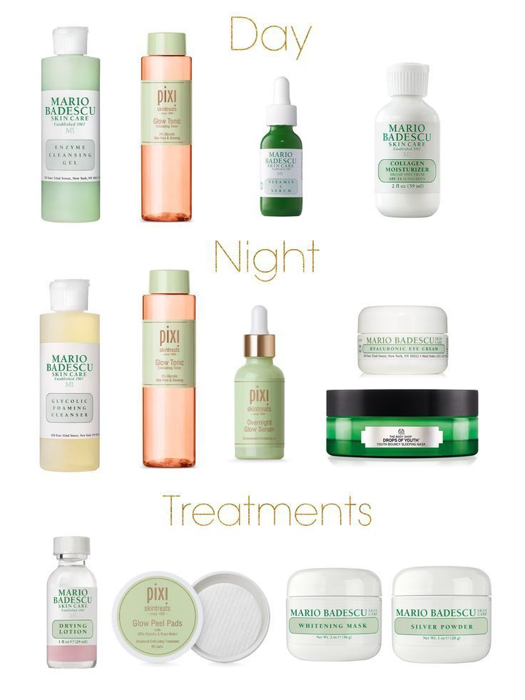Skincare Routine For Glowing Skin Day Mario Badescu Enzyme Cleansing Gel Pixi Glow Tonic Mario Badescu Vitamin Skin Care Skin Treatments Natural Hair Mask