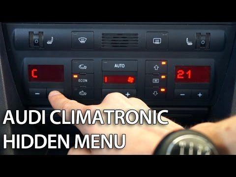 How to enter hidden menu in Climatronic Audi A6 C5 (diagnostic mode