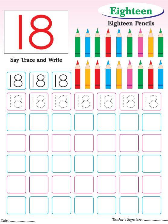 Numbers writing practice worksheet-18 | Download Free Numbers ...