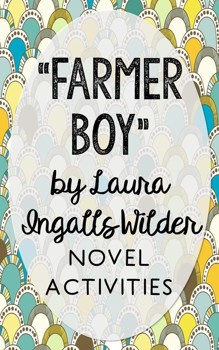 Farmer Boy Novel Unit Study Activities, Book Companion Worksheets ...