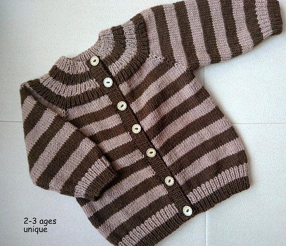 Striped sweater, toddler sweater, Kids cardigan, knit toddler cardigan, knit sweater for boy, striped cardigan