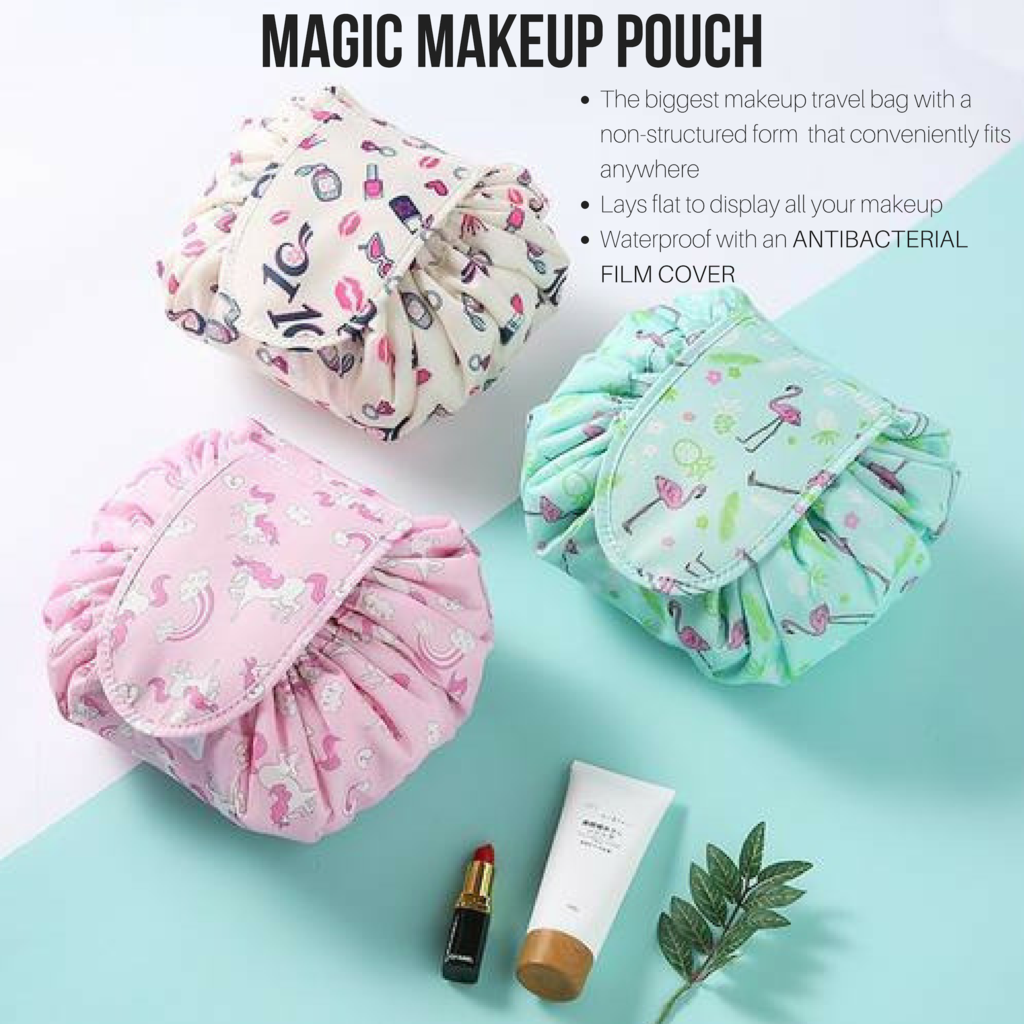 Magic Makeup Pouch Quick makeup, Cosmetic bag, Travel