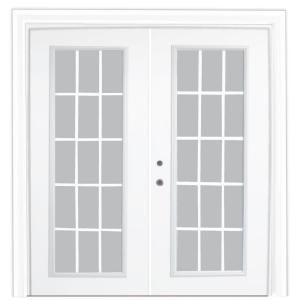 Stanley Doors, Steel Patio Door With 15 Lite Internal Grill, 500015 At The