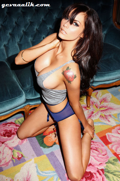 Jessica-Jane Clement has a great rose tattoo on her shoulder