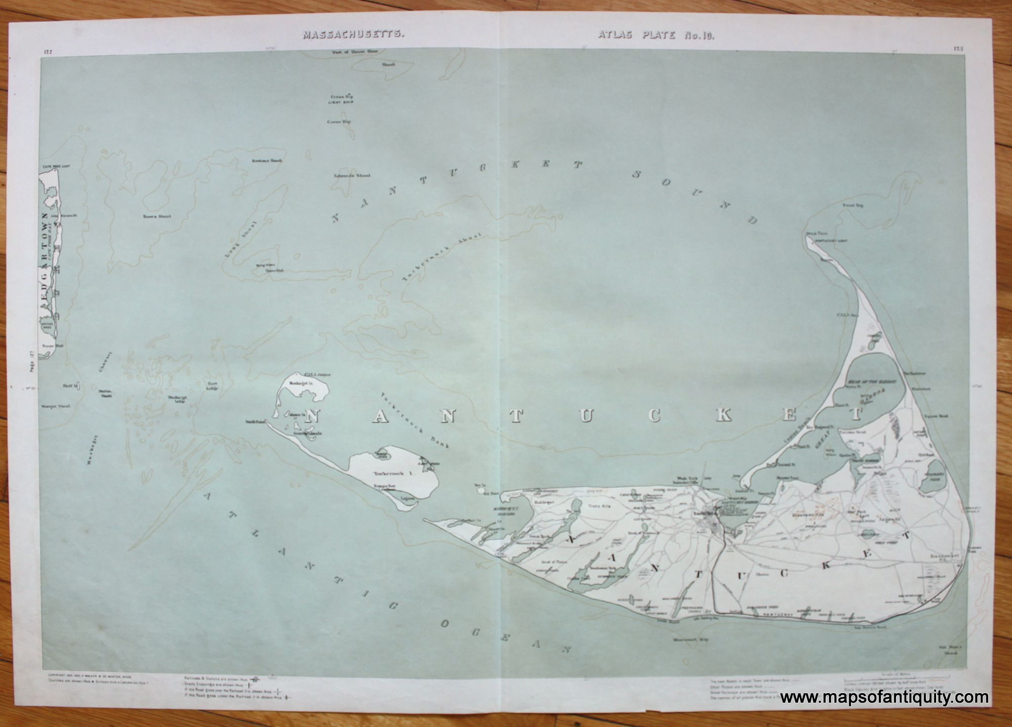 Nantucket Antique Maps and Charts u2013