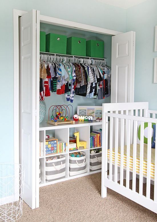 This Is A Great Way To Have Traditional Closet With Little Added Organization The Shelves On Bottom Allow You Use Diffe Decorative Bins