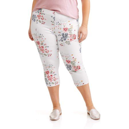 568f6029f27 Free 2-day shipping on qualified orders over  35. Buy Terra   Sky Women s  Plus Printed Capri Jegging at Walmart.com
