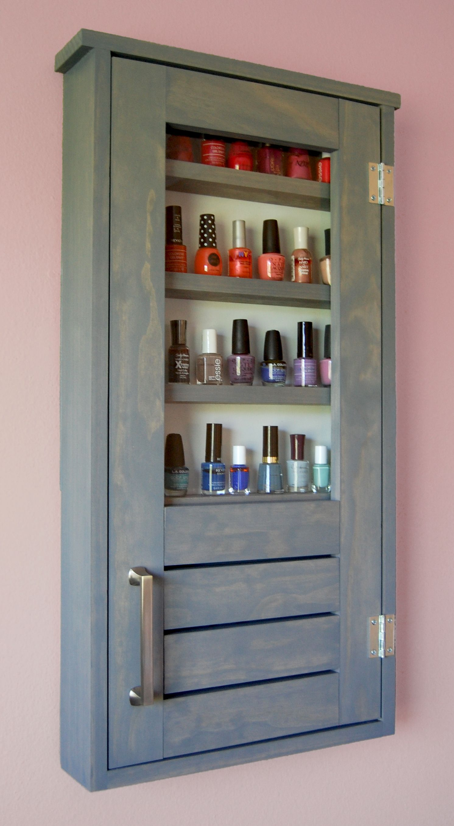 Ana White | Nail Polish Cabinet - DIY Projects | Bathroom Tutorials ...
