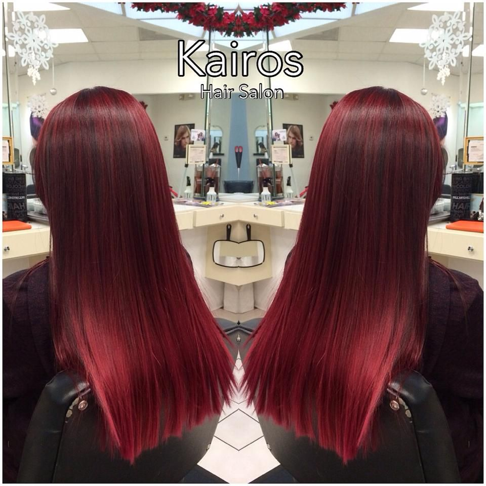 Loving this beautiful red! ❤❤ Hair done by Hair Designer Lucy and Master Stylist Ashley!