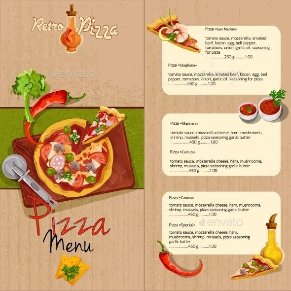 Pizza Menu Amazing Ideas