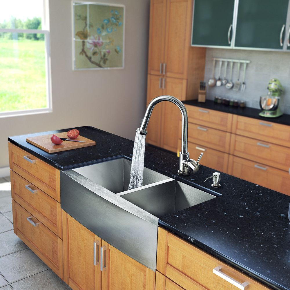 33 Inch Farmhouse A 60 40 Double Bowl 16 Gauge Stainless Steel Kitchen Sink With