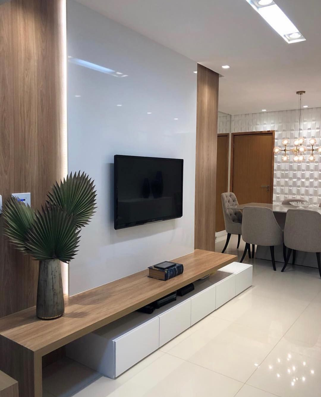 Home idea por dani porto no instagram  cclean  belo amei also tv unit for living room bhk interior design in rh pinterest