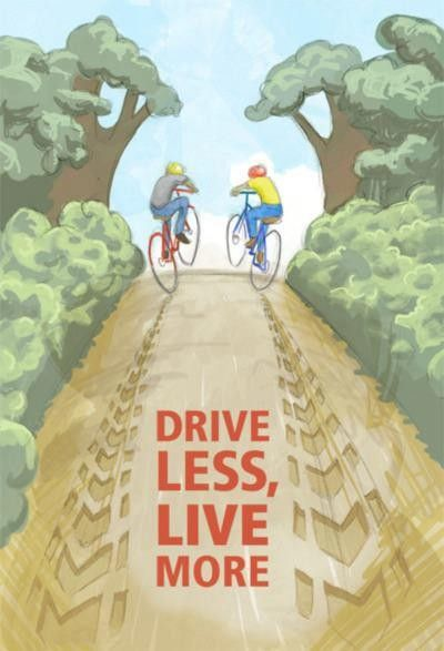 Drive Less Live More Cycling Art I Want To Ride My Bicycle