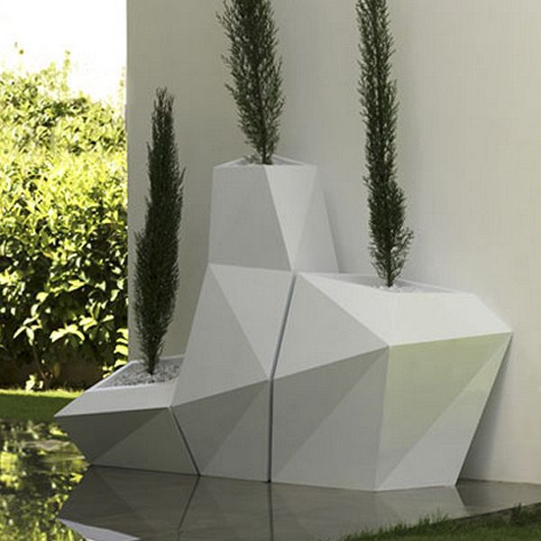 The Geometric Design Of The Faz Outdoor Planters Allow Them To Be Nested  Together Or Used