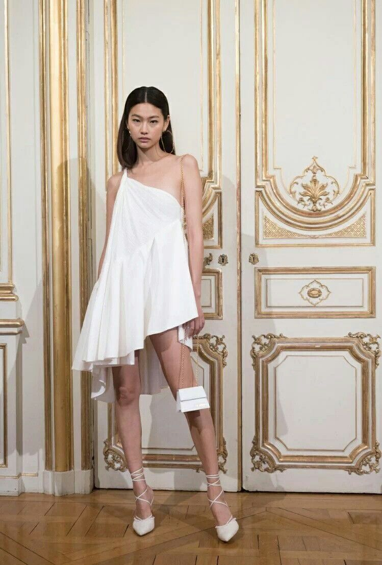 Lace wedding dress under 500 february 2019 Hoyeon Jung backstage at Jacquemus Spring  Summer   designers