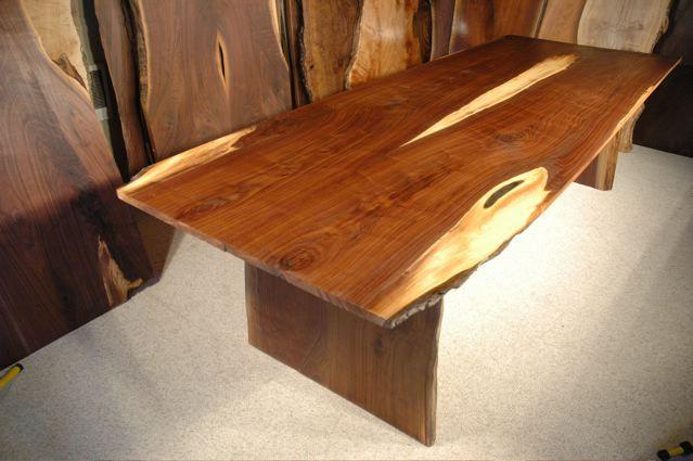 9 Custom Walnut Crotch Slab Dining Table By Dumond S Furniture