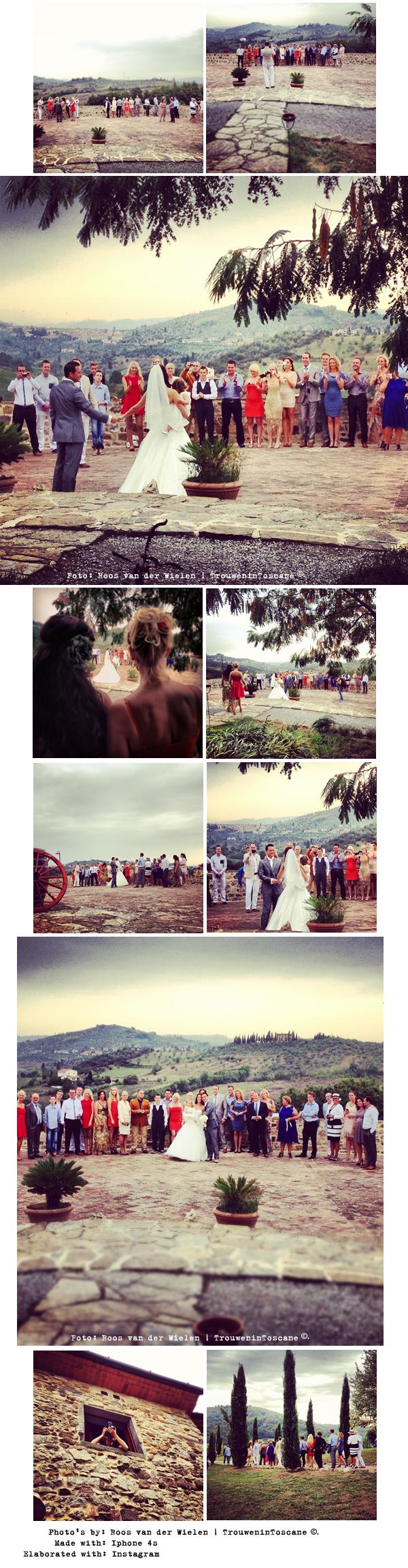 Instagram wedding by trouwen in toscane Roos van der Wielen