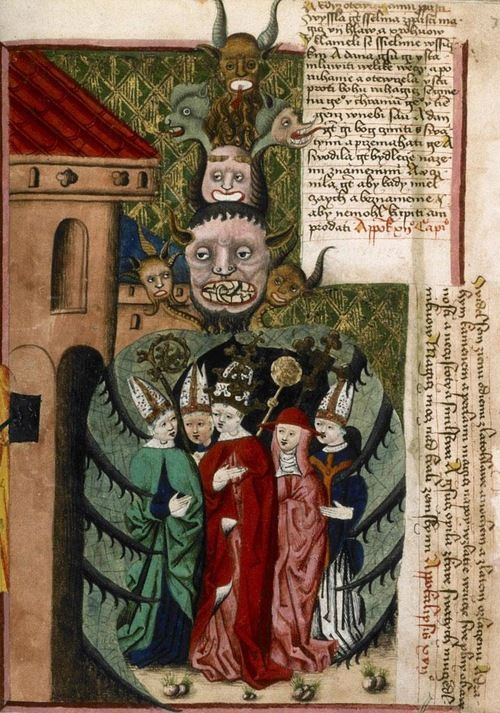 The Pope And The Church Hierarchy Embraced By The Seven Headed