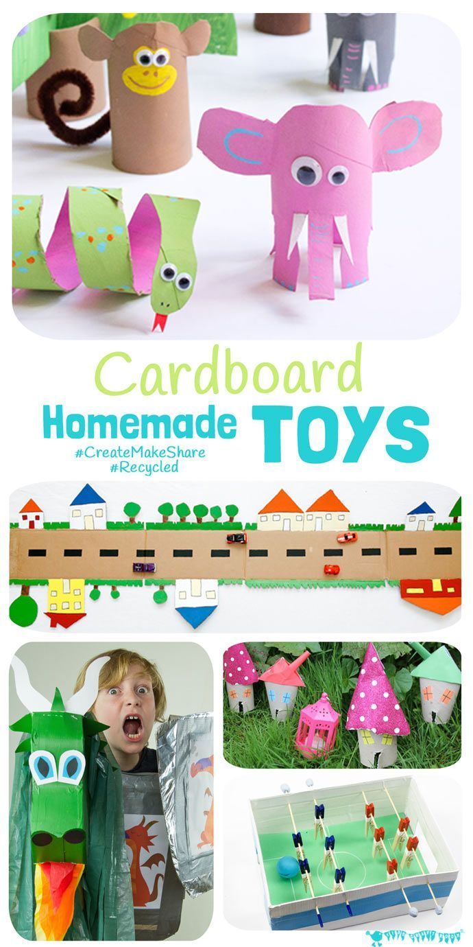 Cardboard Homemade Toys Homemade Toys Crafts For Kids