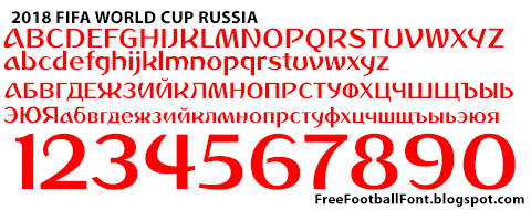 Free Football Fonts  Fifa World Cup Russia Font