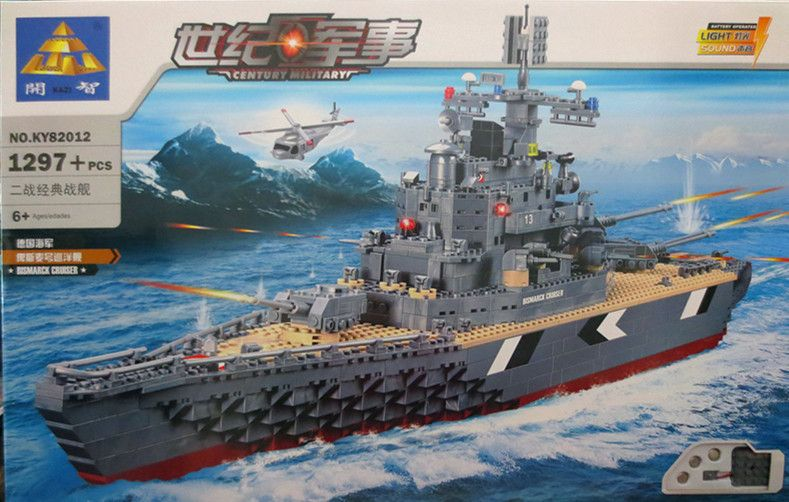 82012 Military Bismarck Battleship Building Blocks Sets Compatible With Lego Ship Construction Brick Educational Hobbies Toy Lego Ship Lego Bismarck Hobby Toys
