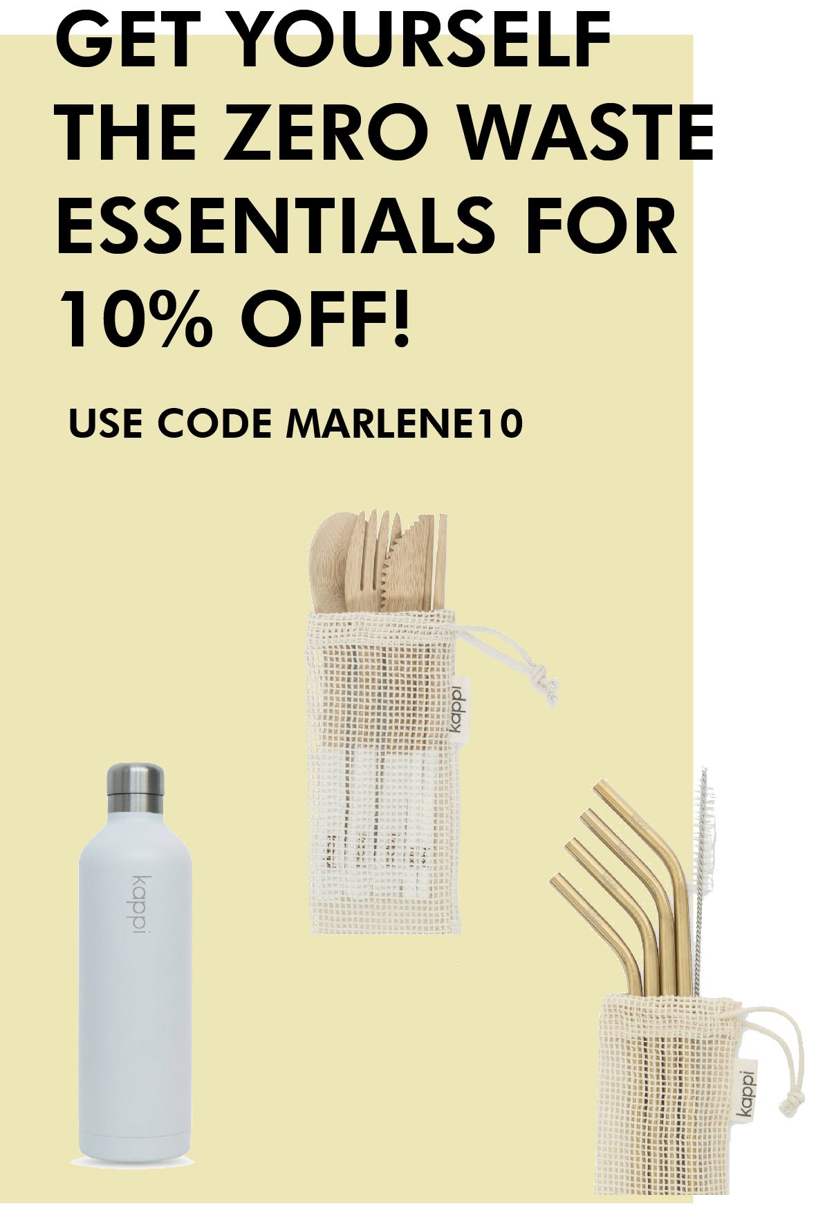 Check out these beautiful zero waste essentials by KAPPI