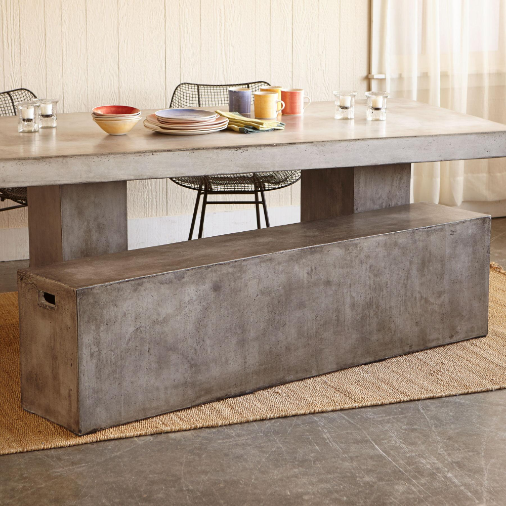 Gravitas Cement Bench View 1 Cement Bench Home Goods Decor Furniture Dining Table [ 1000 x 1000 Pixel ]