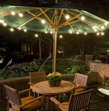 Outdoor landscape lighting outdoor party lighting icicle lights outdoor party lighting 1 hula hoop spray painted 2 strings of icicle lights and duct tape outdoor dining area chandelier pinterest aloadofball Gallery