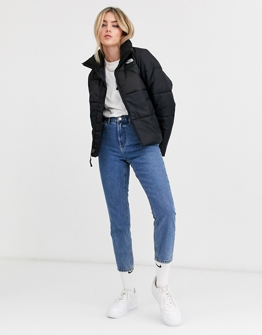 черная дутая куртка The North Face Saikuru Asos Jackets North Face Puffer Jacket Mom Jeans Outfit