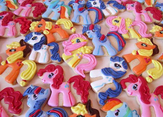 how to make my little pony cookies