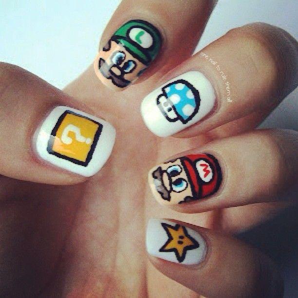 Love #nails #Mario | Nails, nails, nail....polish! :) | Pinterest ...