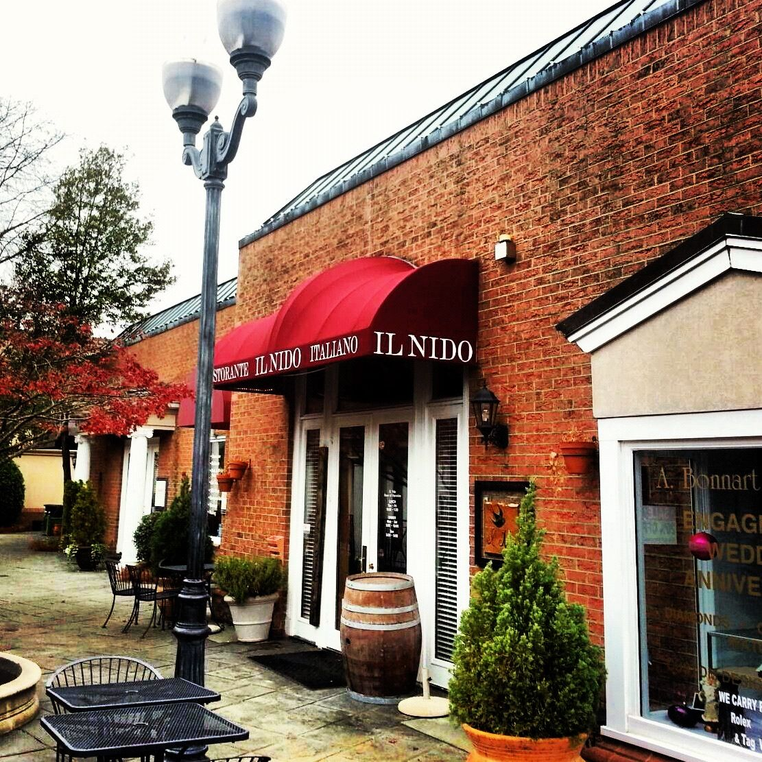 beautiful entrance awning recover for il nido italian ristorante
