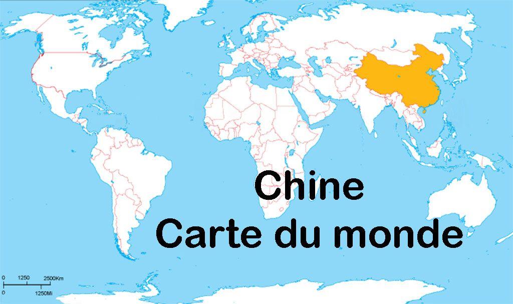 Carte Du Monde Chine Carte Du Monde Chine Carte Carte