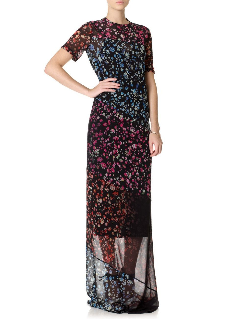 Black Georgette Floral Elli Dress | Preen by Thornton Bregazzi | Avenue32