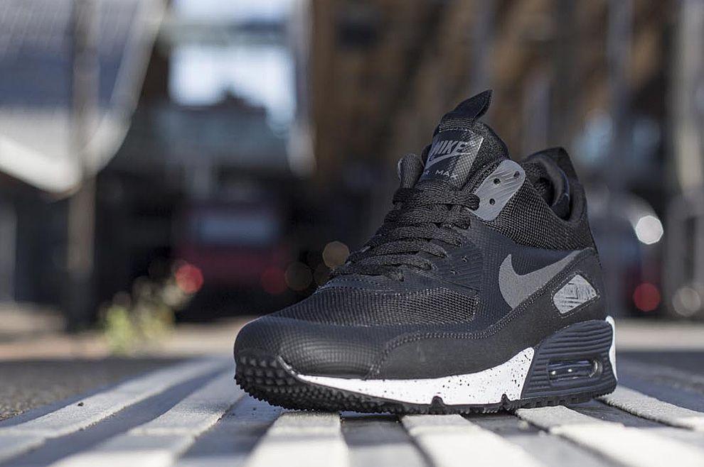 Nike Air Max 90 Sneaker Montant Noir / Noir Couleur Charbon
