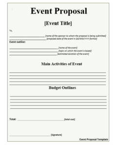 Event Proposal Template Free Proposal Templates Event Proposal Template Event Proposal Proposal Templates