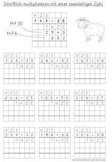multiplikation arbeitsblätter 4. klasse