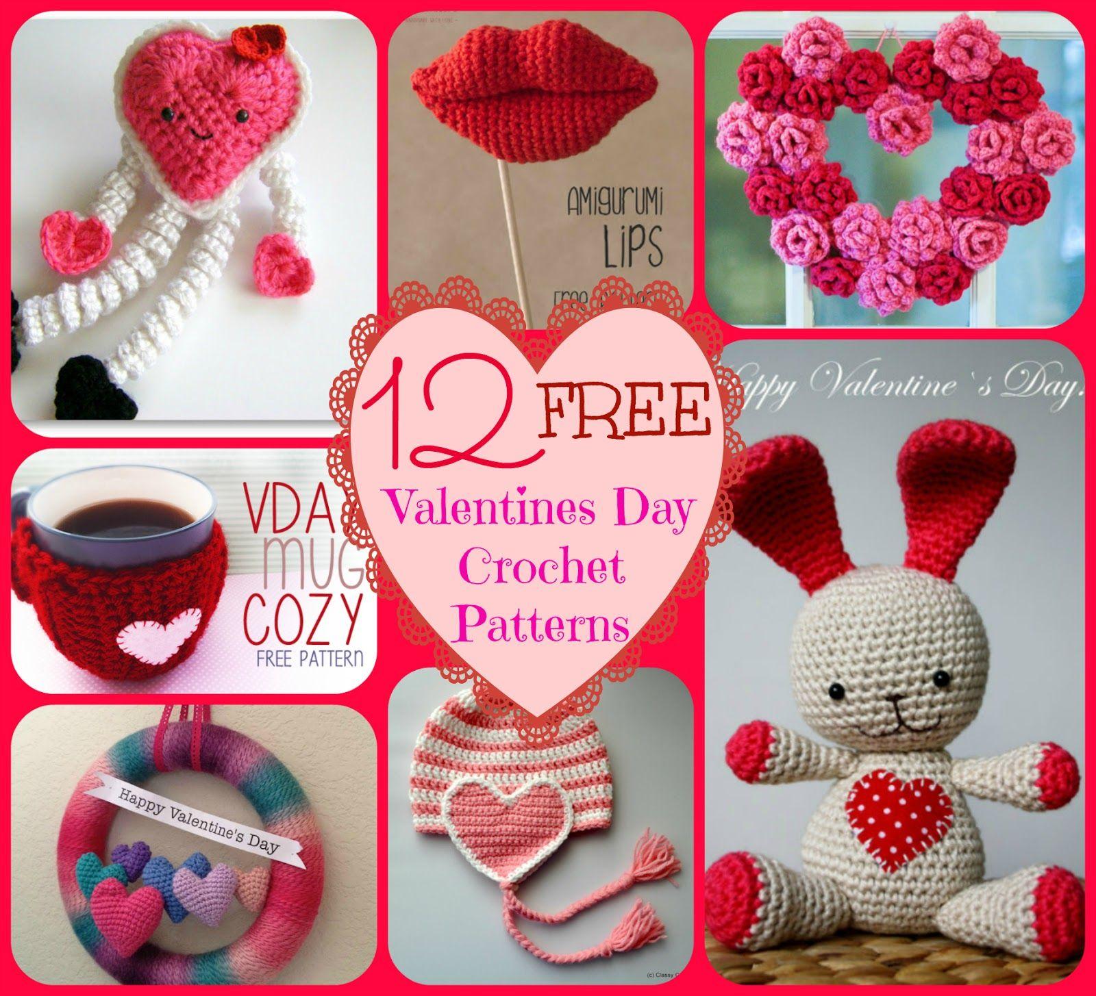 12 Free Valentines Day Crochet Patterns