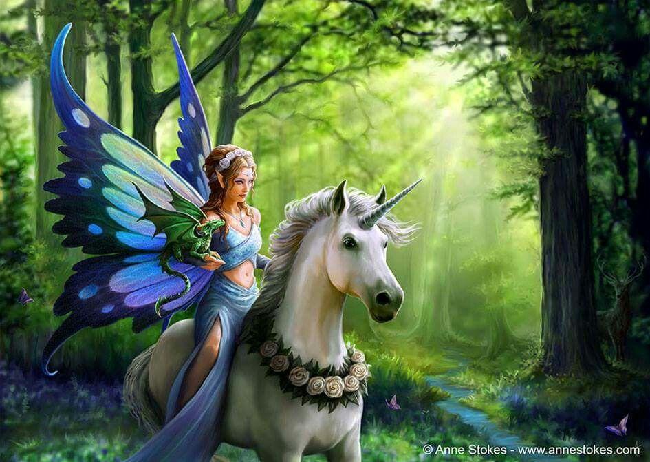 Fairy art | Fairy art, Unicorn and fairies, Fantasy fairy