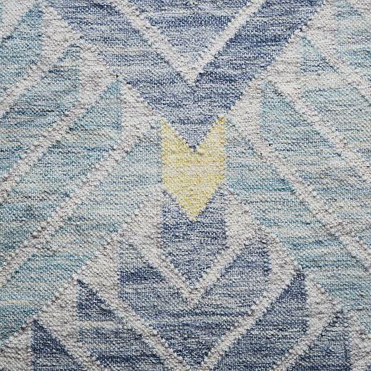 Diamond Steps Wool Dhurrie Midnight Rugs Bedroom Addition