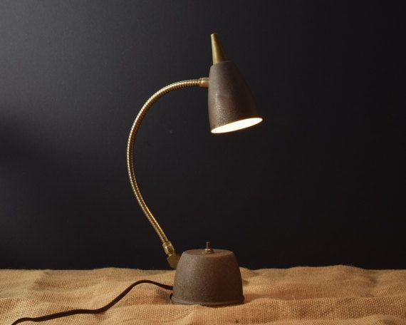 Vintage Desk Lamp Metal Lamp Flexible Goose Neck Small