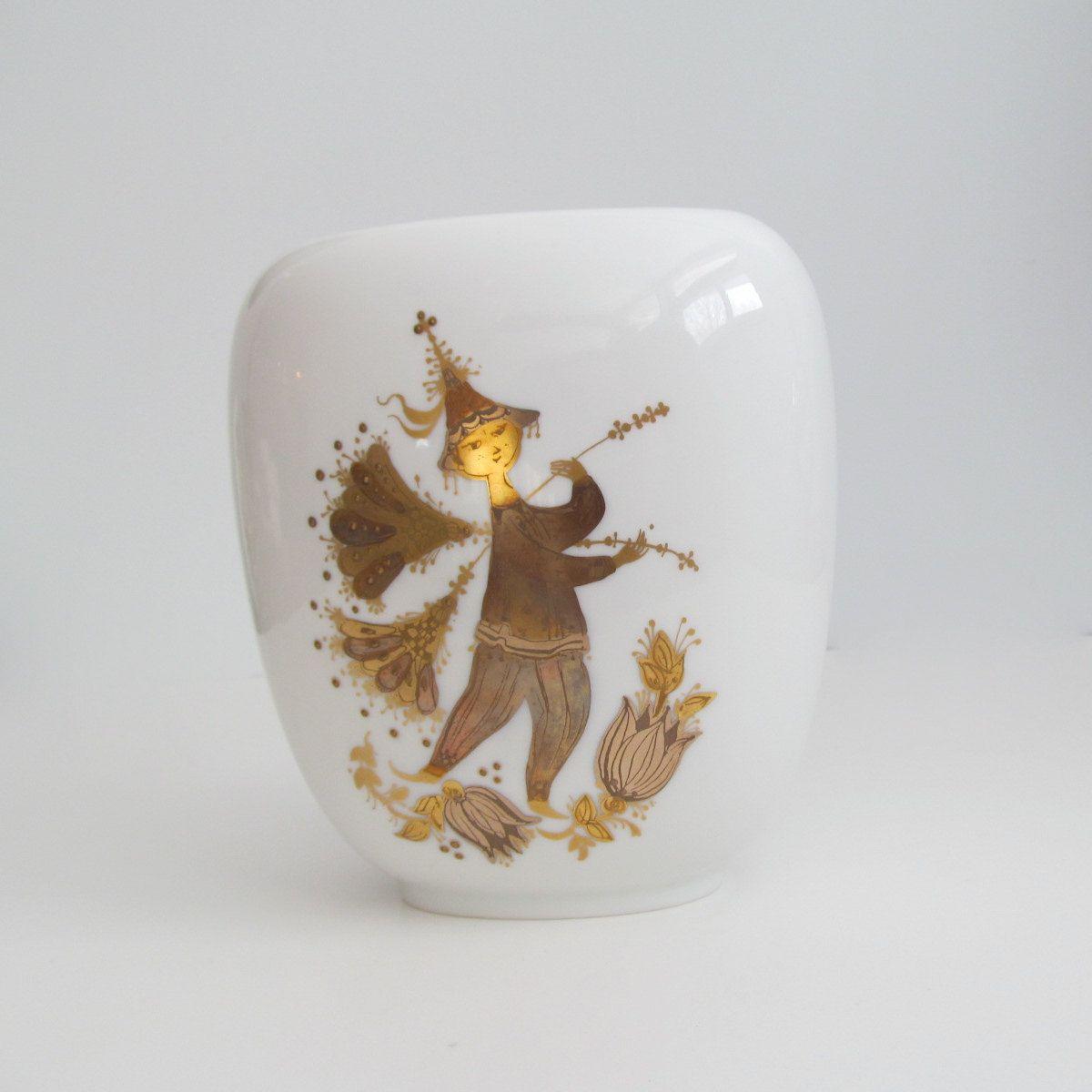 Mid Century Bjorn Wiinblad For Rosenthal Vase Studio