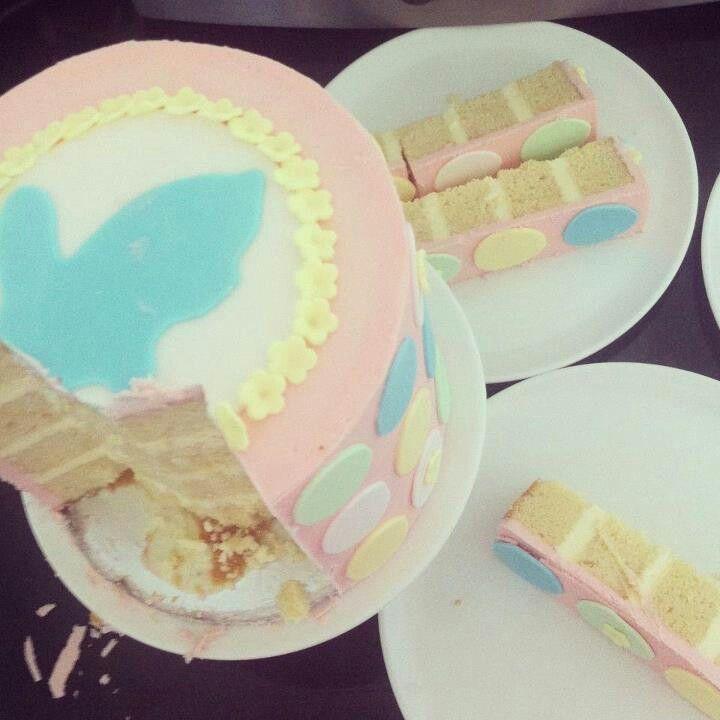 Pink spotty cake