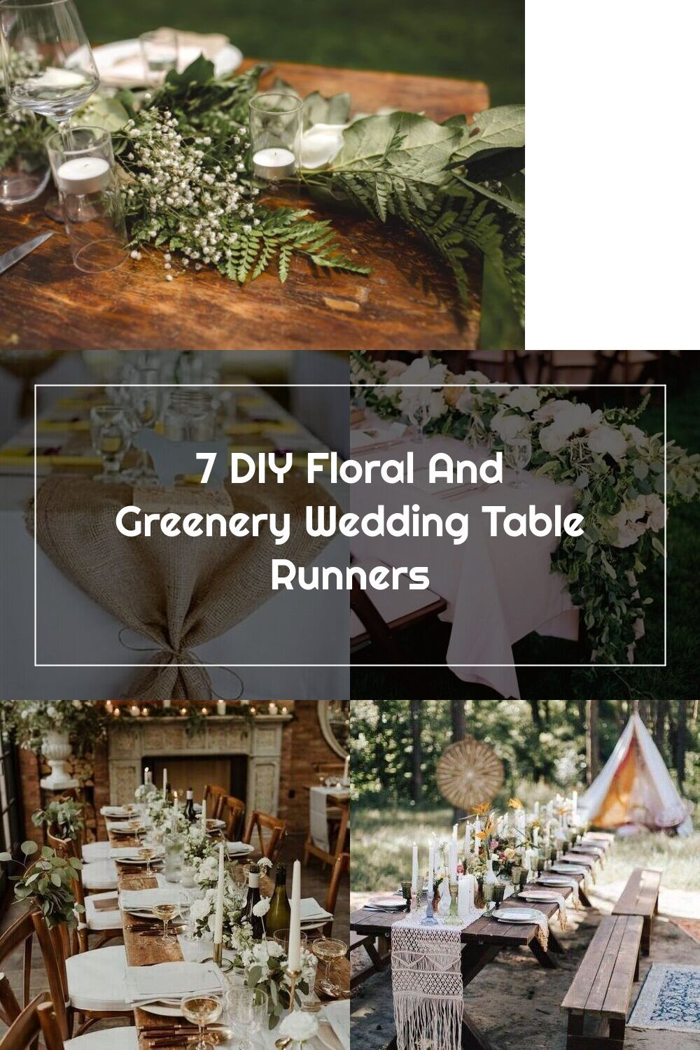 7 diy floral and greenery wedding table runners in 2020