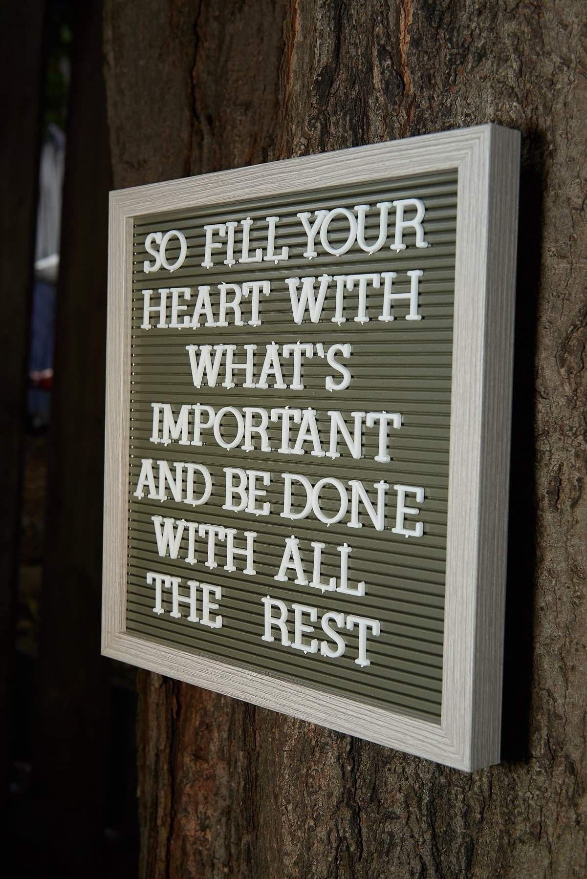 wedding letter board